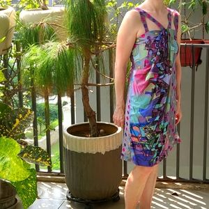 Save The Qween (Italy) Short Multicolour Dress